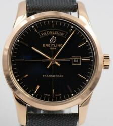 Breitling Transocean Day & Date 18k Gold - R4531012BB70 *Mint* MSRP $17155
