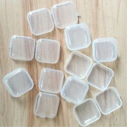10~50Pcs Small Box Jewelry Earplugs Container Storage Durable Mini Clear Plastic