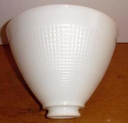 Vintage White Milk Glass Floor Lamp Shade Table Lamp Shade Textured Pattern $23.99
