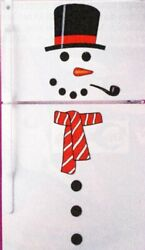 Christmas Decoration. Magnet Animated Snowman Figure. Perfect House Decoration.