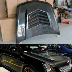 for Cadillac CTS-V Coupe 11-13 Front Engine Hood Cover Bonnet Lid Carbon Fiber