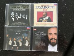 4 CDs Four Tenors And A Diva Luciano Pavarotti and Friends Carreras Domingo Pav