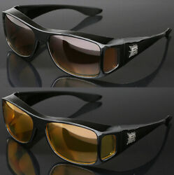 Fit Over Sunglasses with Side Shield Cover Over Prescription EyeGlasses $7.99