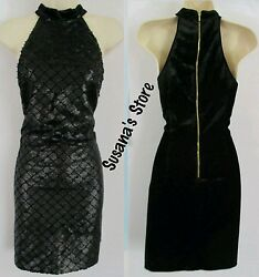 NWT bebe Olivia Mock Neck Sequin Dress SIZE M SEXY CLASSY DRESS RETAIL $102 $34.99