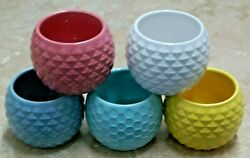 1 Votive Round Shaped Ceramic Holder FREE Tealight Candle 2 1 4quot;D x 2 1 4quot;T COOL $7.99
