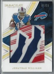 2016 Immaculate Football JONATHAN WILLIAMS RC Gloves Logo SSP Patch 7 15 $49.84