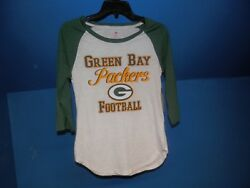 GREEN BAY PACKERS WHITE TEENS LONG SLEEVE SHIRT MED 7 9 NWT NFL AUTHENTIC $19.99