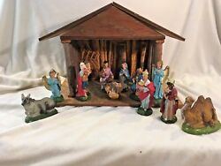 Wooden creche w11 pcs Made in Italy ? Fontanini