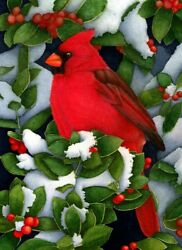 NEEDLEPOINT#x27;S Canvas 14 or 18 count cardinal red bird $28.99
