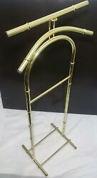 Vintage Hollywood RegencyChinoiserie Faux Bamboo Butler Valet Coat Stand Rack