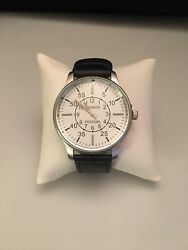 """Premier Designs TIMELY Imitation Rhodium Plated Leather Men's Watch 6""""-7.5"""""""