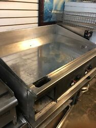 Keating 3 ft gas miraclean chrome plated flat top mirror clean restaurant grill