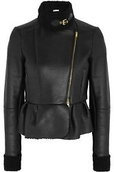 MIU MIU BLACK SOFT SHEARLING GOLD BUCKLE SEXY SHORT JACKET EU 42 US 4 I LOVE IT