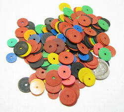 Vinyl Thin Disc Beads Africa CHOICE OF COLORS or MIXED Lot Sizes Vary By Color