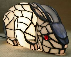 Crouching Rabbit Stained Glass Lamp $40.00