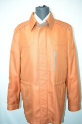 NEW 975000 $ STEFANO RICCI  Outwear Top Over Coat Leather Us M Eu 50 (G203)