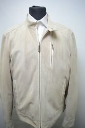 NEW 1055000 $ STEFANO RICCI  Outwear Top Over Coat Leather  Us M Eu 50 (G144)