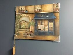 Set of Cute Coordinating Kitchen Art French Cafe Themed Canvas and Framed Print $35.00