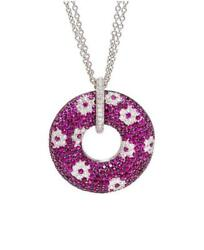 CLEARANCE!! $16500 RARE 18KT LRG RUBY AND DIAMOND ROBERTO COIN PENDANT NECKLACE