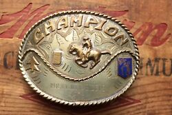 Vintage Champion Rocky Mountain Riders 1973 Little Britches Trophy Belt Buckle $148.00