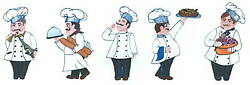 ITALIAN CHEFS HAND PAINTED DECOR CREATIVE ART TRANSFER TATOUAGE WALL ART $12.00