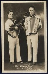 RPPC The Novelty Boys Jimmie and Dick KMOX CBS Autographed 1935 Real Photo Card $27.00