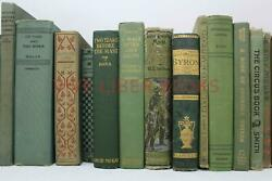 Lot 5 of GREEN Shades of Green Old Vintage Antique Rare Hardcover Random Books $32.95