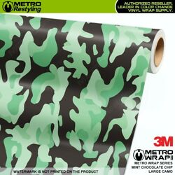 LARGE MINT CHOCOLATE CHIP Camouflage Vinyl Vehicle Car Wrap Camo Film Sheet Roll