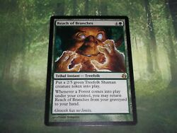 MTG 2008 Morningtide Green Instant Reach of Branches Card