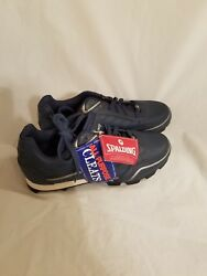 NWT VINTAGE Spalding Blue Leather Track amp; Field Rubber Spikes Cleats Sz 7 1 2 $35.00