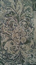 Grey Rococo Design Tapestry Upholstery Quality Italian Decor Fabric 1 Yard NEW $24.95