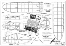 Model Airplane Plans RC : FLY BABY 48quot; 1 2A Texaco orig model from 1945 $15.00