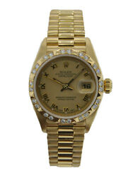 ROLEX OYSTER PERPETUAL LADIES DATEJUST STAINLESS 18KT YELLOW GOLD WITH FLUTED...