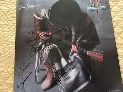 DOUBLE TROUBLE Signed Autograph by Stevie Ray Vaughan and 3 members Flat Poster