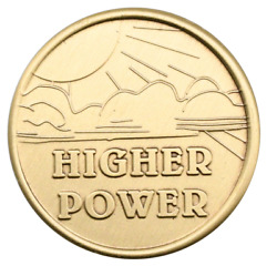 Wendell#x27;s Higher Power bronze Alcoholics Anonymous AA coin chip medallion token $4.99