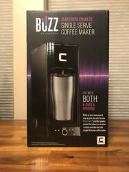 Coffee Maker K Cup Buzz Brewer Bluetooth Enabled Speaker Single Serve Plastic