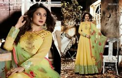 indian floor length gown dress anarkali party wear long dress $99.00