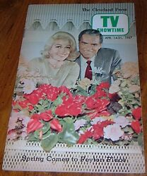 1967 TV SHOWTIME GUIDE~PEYTON PLACE~DOROTHY MALONE~TONY RANDALL~HONOR BLACKMAN