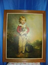 Painting Master Simpson By Arthur Devis Boy With Top Hat amp; Dog 35 X 29.5 $250.00