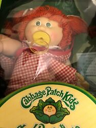 Vintage 1980s Cabbage Patch Doll Italian  New in Box paci red hair RARE Foreign