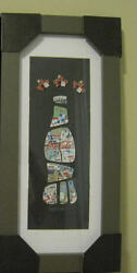 2010 Vancouver Olympic Paralympic Coca Cola 14 Pins Bottle Set with Framed