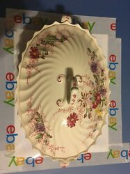 Copeland Spode FAIRY DELL Covered Oval Casserole Serving Bowl Dish