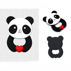 Cute Panda Shape Baby Kids Infant Teether Teething Appease Chew Safety Toys WE