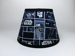 Star Wars Darth Vader R2 D2 C 3PO Black Fabric Lamp Shade Lampshade Handmade $25.99