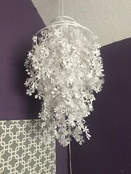 Pottery Barn Floral Hanging Plug In Lamp $75.00