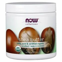 NOW Foods Organic Shea Butter 7 fl oz Solid Oil. $12.20