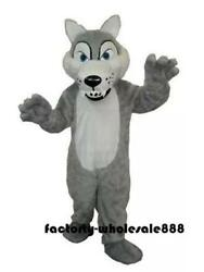 Husky Dog Mascot Costume Animal Dress Wolf Siberian Professional Parade Suit Toy
