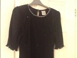 Ladies Classic Woman Black Cocktail Dress. Size16. New. GBP 19.99