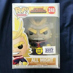 Funko Pop! My Hero Academia GITD GLOW in the Dark ALL MIGHT 2017 Funimation Excl