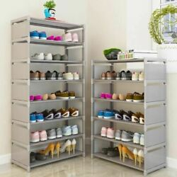 Multi Layer Shoe Rack Nonwovens Steel Pipe Easy to install home Shoe cabinet She